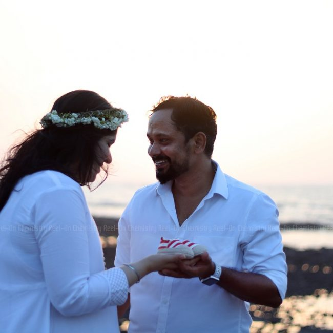 Pregnant Indian Lady In A White Gown with husband Couple Sunset Maternity Photography